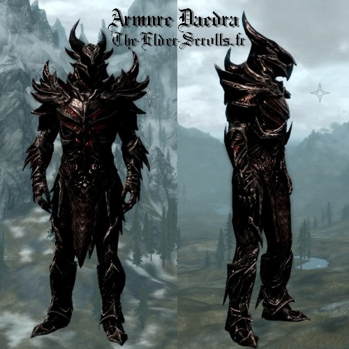 Armure de daedra, la meilleure armure de skyrim